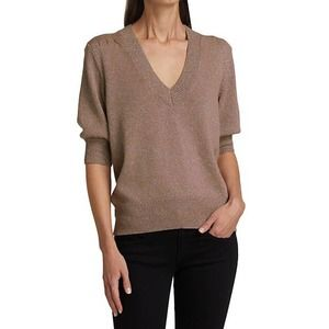 Joie Tammie Shimmer Puff Sleeve Sweater